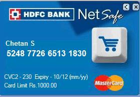 How to create and use hdfc banks netsafe virtual credit card on it colourmoves