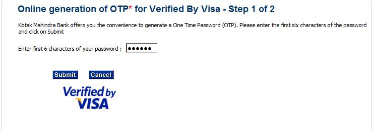 How to Register for Kotak Verified by Visa / Mastercard