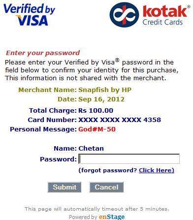 How to Register for Kotak Verified by Visa / Mastercard