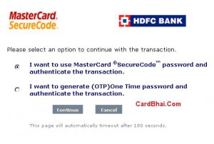 HDFC Cards OTP-1