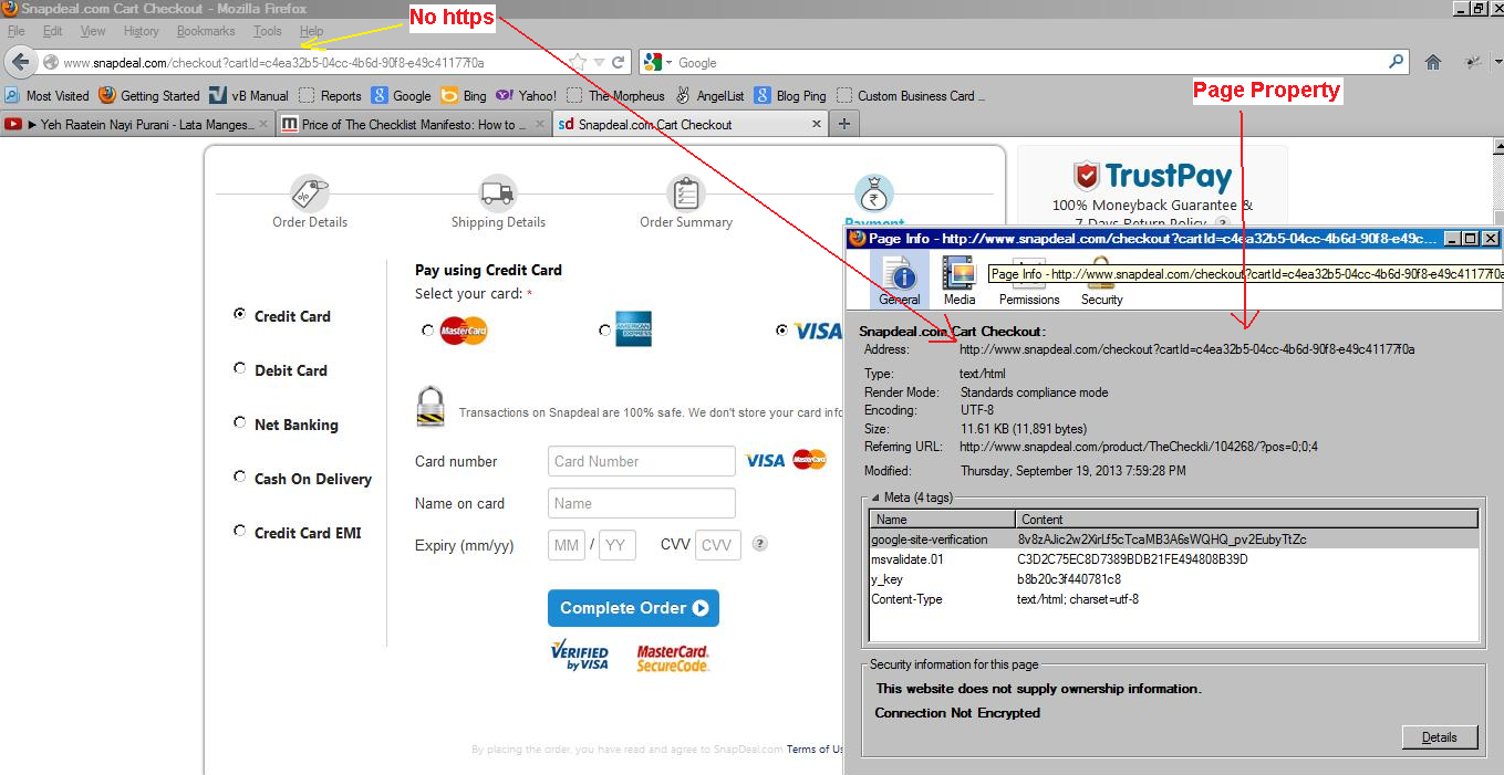 4a32c09f7 SnapDeal Shopping is Not Secured for Credit Cards