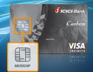 icic bank credit card application status